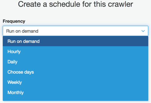 Crawler Schedule
